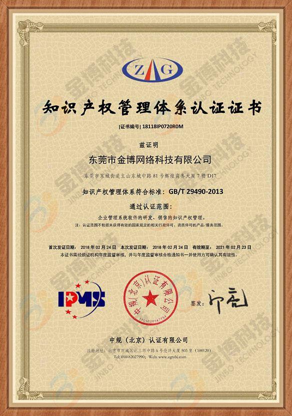 贯彻实施国家知识产权管理体系认证证书.jpg